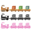 Kids Toy Train vector image vector image