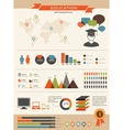 Education infographics set retro style design vector image vector image