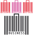 bar code bags vector image vector image