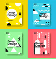 layout design template cover book colorful cute vector image