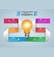 business infographics origami style vector image