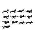 Black Cat Running Sprite vector image vector image
