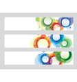 circle banners vector image vector image