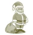 Engraved Cartoon Santa vector image vector image