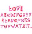 love alphabet vector image vector image
