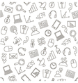 Communicationbusiness pattern black icons vector image vector image