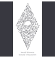 Abstract Ornament of Bones Black vector image