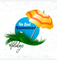 banner on the grass vector image