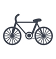 Bike isolated flat icon vector image