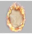 Black Friday sale fire label EPS 10 vector image