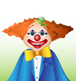 Happy cartoon clown vector image