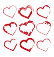 Love set hearts Valentine day promotions vector image
