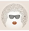 Musical female head vector image