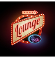 Neon sign Lounge bar vector image