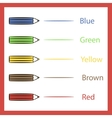 Pencils color vector image