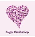 Postcard to the day of Valentine heart on a purple vector image