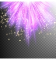 Purple burst effect EPS 10 vector image