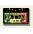 Reggae music retro typographical poster vector image