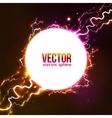 White plasma fireball vector image
