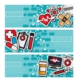 Three Medical Banners vector image