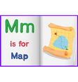 Map in a book vector image vector image