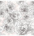 Seamless hand drawn pattern with hibiscus flowers vector image vector image