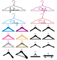 clothes hanger set vector image vector image