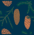 colorful drawing natural seamless pattern vector image
