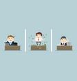 three office scenes vector image