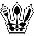 cutlery - Crown vector image