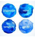 round water color backgrounds vector image