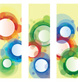 arrtistic banners vector image vector image