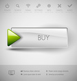 Modern plastic button BUY vector image
