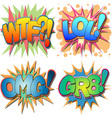 Comic Book Abbreviations vector image