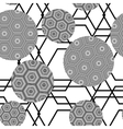 black and white seamless pattern of circles vector image