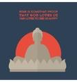 Flat Buddha vector image
