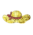 Gem Summer Hat With Ribbon vector image