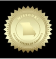 Gold star label Missouri vector image