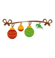 merry christmas decoration hanging icon vector image