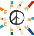 peace conflict resolution symbol of international vector image