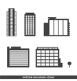 set of office buildings apartments vector image