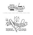 Trendy Retro Vintage Insignias - tattoo Badges vector image