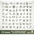 Green large Icons Set Collection vector image vector image