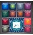 Vintage calendar 2017 vector image