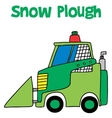 Snow plough collection art vector image
