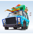 car with winter travel outfit vector image vector image