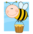 Summer bumble bee collecting honey vector image