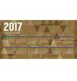 2017 Printable Calendar Starts Sunday Geometric vector image