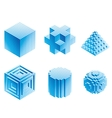 Geometric objects vector image vector image