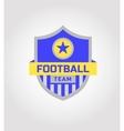 logo template soccer football team vector image